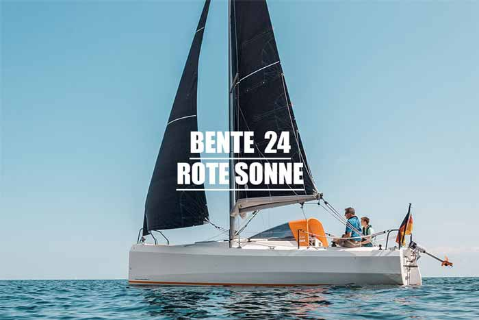 Yachtcharter Ostsee Bente24 Rote Sonne